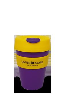 KeepCup Plastic 12oz (purple-yellow)